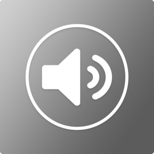 bw audio icon