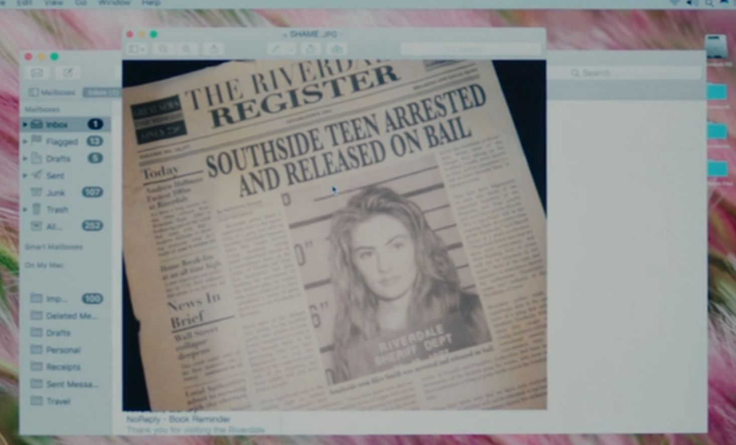 Alice Cooper mug shot (CW / Riverdale)