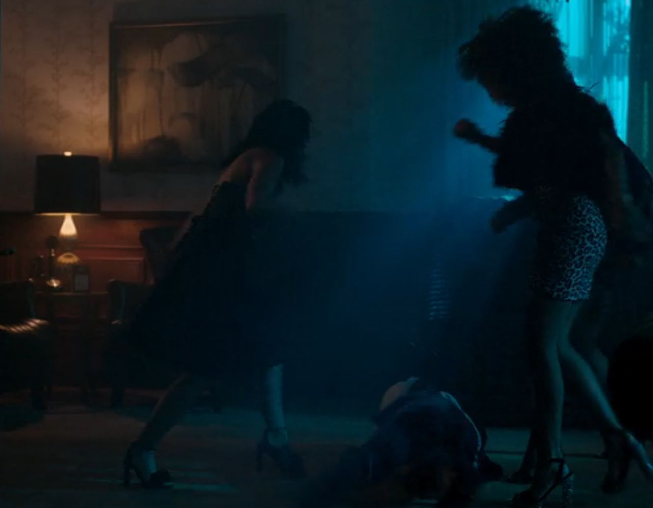 Veronica, Josie and the Pussycats beating up Nick (CW / Riverdale)
